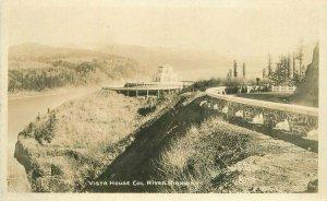 Oregon 1920s Vista House Col River Highway RPPC Photo Postcard 21-5982