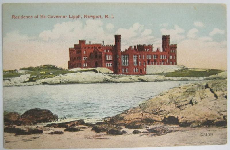 Residence of Ex Governor Lippit Newport RI -vintage-