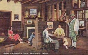 Interior Of Chownings Tavern Williamsburg Virginia