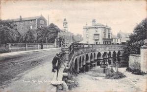 CHIPPENHAM WILTSHIRE UK TOWN BRIDGE~WYNDHAM SERIES~R F HOULSTON POSTCARD 1906