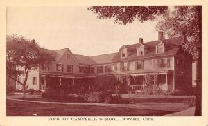 Windsor Connecticut~Campbell Day & Boarding School For Girls~Closed 1919~1910 PC