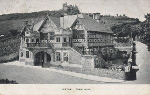 Lynton Devon Town Hall Old Postcard