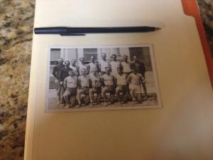 Vintage AZO photo Post Card Circa 1930- Unposted ,,B&W Group of Men