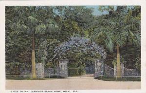Florida Miami Gates To WM Jennings Bryan Home