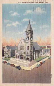 Iowa Des Moines St Ambrose Cathedral 1944 Curteich