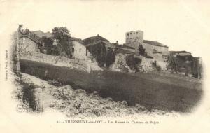 CPA VILLENEUVE-sur-LOT Les Ruines Lot et Garonne (100696)