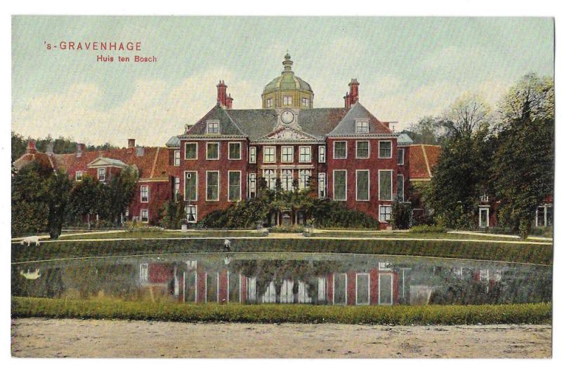 Netherlands Holland Gravenhage Huis ten Bosch Hague Postcard