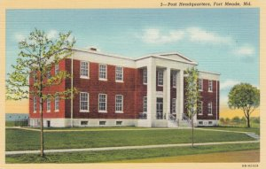 FORT MEADE, Maryland, 1930-40s; Post Headquarters
