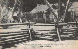 Chicago IL~Mickelberry's Log Cabin Restaurant~Gone Now~2300 W 95th~1930s Artvue
