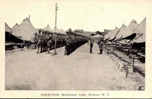 New York Syracuse Mobilization Camp Inspection