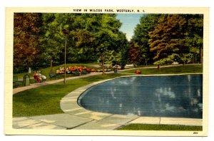 RI - Westerly. Wilcox Park View