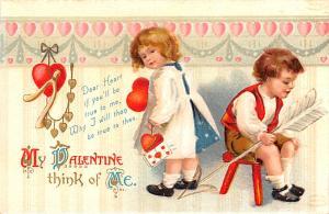 Artist Ellen Clapsaddle Valentines Day Unused