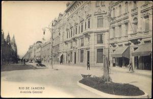 brazil, RIO DE JANEIRO, Avenida Central (1910s)