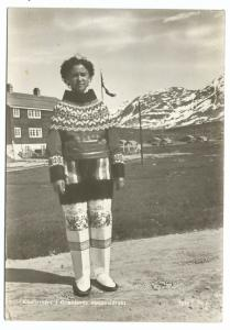 Woman in Greenland National Dress RP PPC, Unposted, c 1950's
