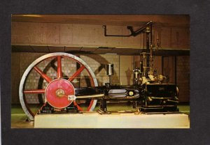 MA Rollins Steam Engine Museum of Science Boston Massachusetts Mass Postcard