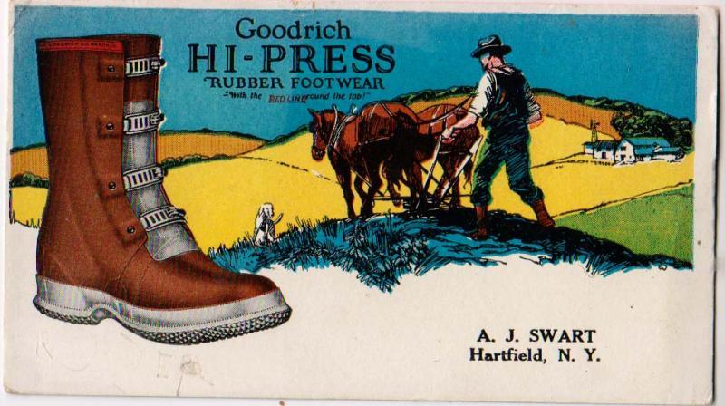 Goodrich Hi-Press Rubber Footwear, Hartfield NY