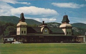 North Conway Railrod Station With Moat Mountain Range In Background White Mou...