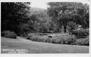 G56/ Chenango Valley State Park New York RPPC Postcard Bridge c40s