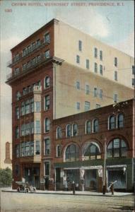 Providence RI Crown Hotel c1910 Postcard
