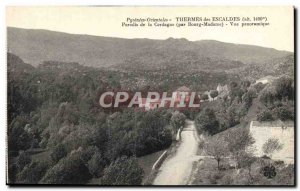 Old Postcard Spa Des Escaldes Paradise of Cerdague by Bourg Madame Panoramic ...