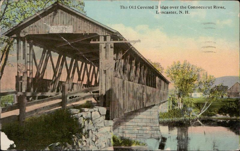 Old Covered Bridge Connecticut River Lancaster New Hampshire