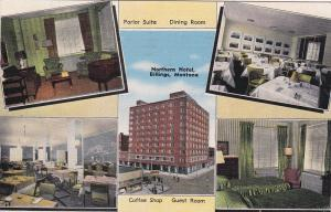 BILLINGS, Montana, PU-1944; Northern Hotel, Parlor Suite, Dining Room, Coffee Sh