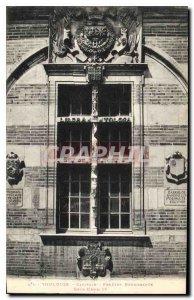 Postcard Old Toulouse Capitol Renaissance Window