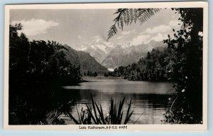 Postcard New Zealand South Westland Lake Matheson Mount Tasman RPPC Photo K19