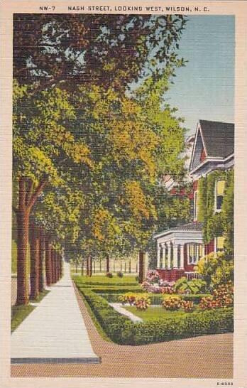 North Carolina Wilson Nash Street Looking West