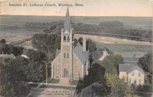 WINTHROP MINNESOTA~SWEDISH EVANGELICAL LUTHERAN CHURCH~W R NELSON POSTCARD 1907