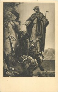 Religion biblic alfred rethel kaiser max an der martinswand Postcard