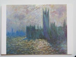 Londres, Le Parlement - Reflets sur la Tamise by Claude Monet Chrome Postcard