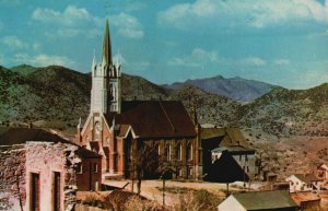 Virginia City, NV, St. Mary's in the Mountains, Chrome Vintage Postcard g8493