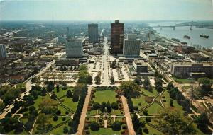 Louisiana Captiol Baton Rouge LA aerial view Postcard