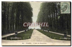 Old Postcard Versailles Allee Marmousets