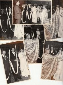 Lot 5 early photos social history romanian wedding snapshots groom bride priest