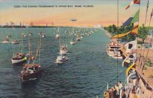 Florida Miami The Fishing Tournament Is Under Way 1943