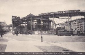 110StLStation & Curve,highest point of l Railway,New York City, 00-10s