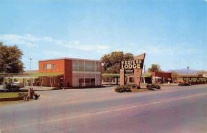 Van Horn Texas~Best Western Lodge Motel~Front Carports~1950s Cars~Postcard