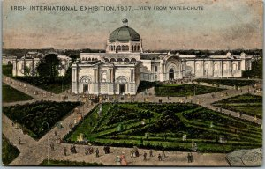 1907 IRISH INTERNATIONAL EXHIBITION Postcard View from Water Chute Dublin