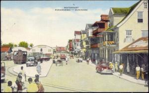 suriname, PARAMARIBO, Waterkant, Car, Tram or Train (1940s)