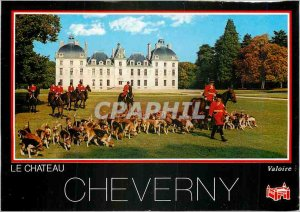Modern Postcard Chateau Cheverny Valoire Hunting Dogs