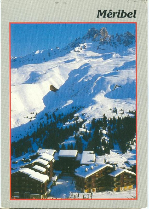 France, Meribel, used Postcard