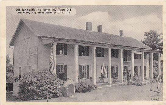 Old Springville Inn, Onsted, Michigan, 1910-1920s