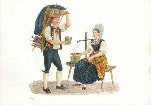 Switzerland swiss early folk costumes ethnic types Glarus