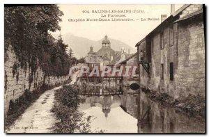 Old Postcard Salins les Bains furious Notre Dame Liberatrice La Saline
