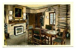 NY -  Ft Ticonderoga. The French Room