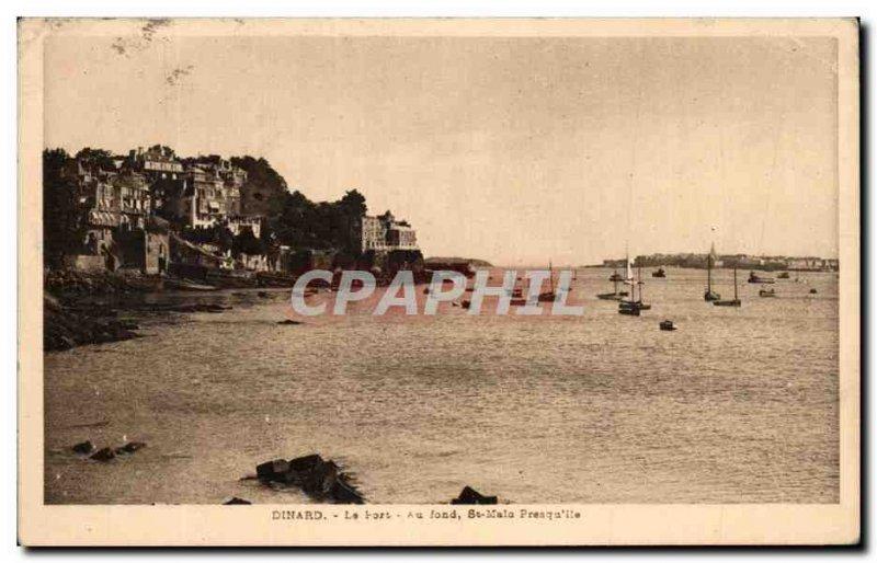 Old Postcard Dinard The port at the bottom Presqu'ile de St Malo 39lle