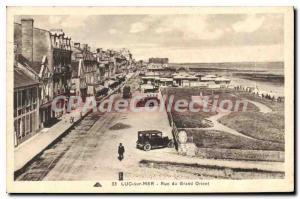 Postcard Old Luc Sur Mer Rue Du Grand Orient