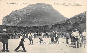 Old Vintage Lawn Bowling Postcard Post Card Les Joueurs de Boules Writing on ...